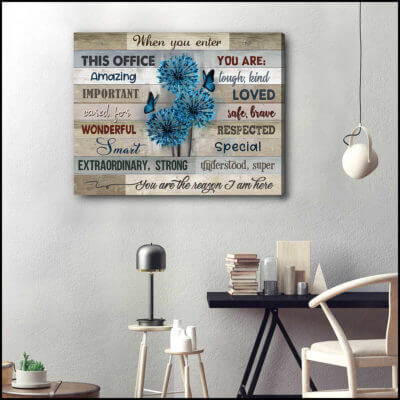 Ohcanvas Humming Birds Flowers When You Enter This Office Canvas Wall Art Decor