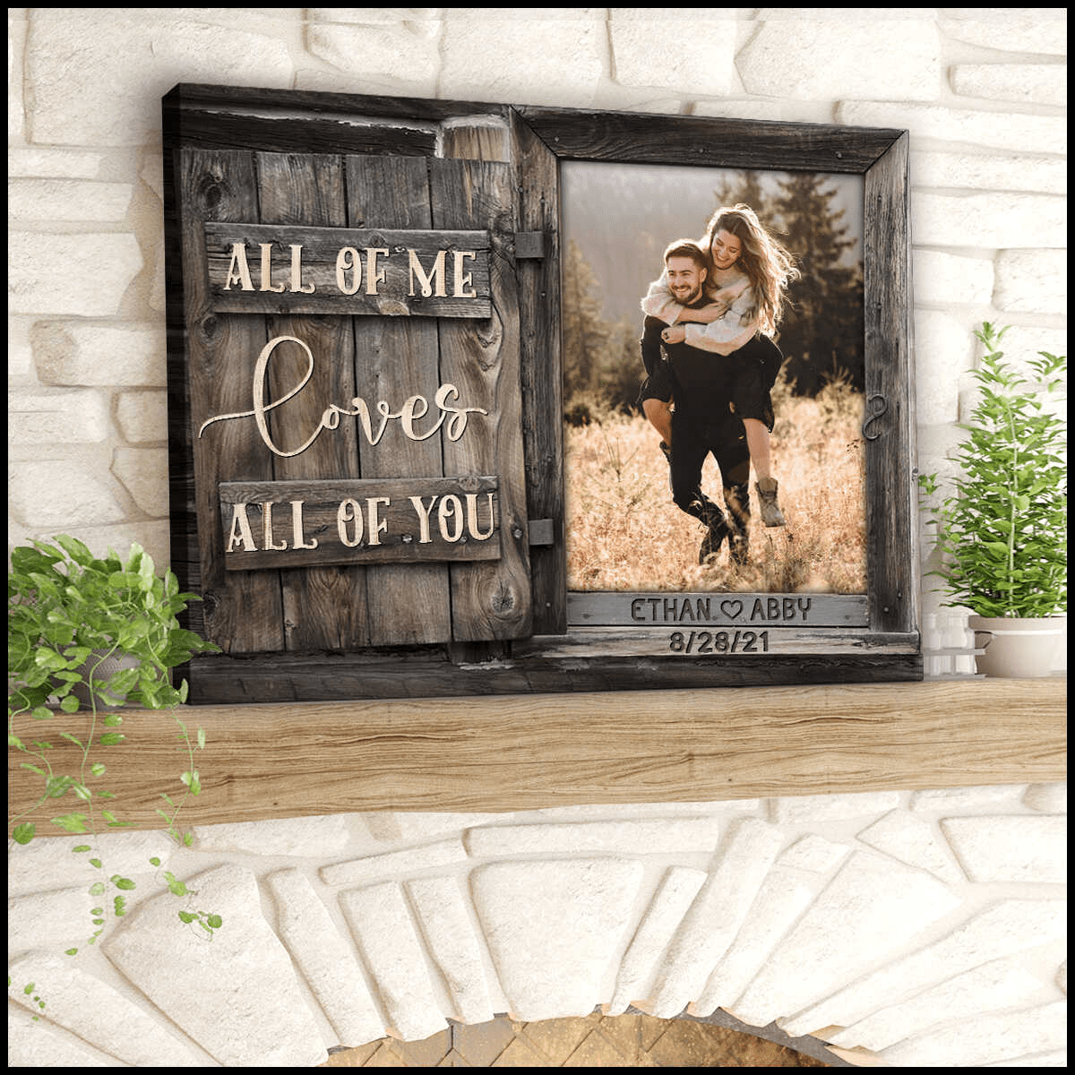 Custom Canvas Prints Personalized Gifts For Wedding Anniversary Birthday All Of Me Loves All Of You Wall Art Decor Ohcanvas