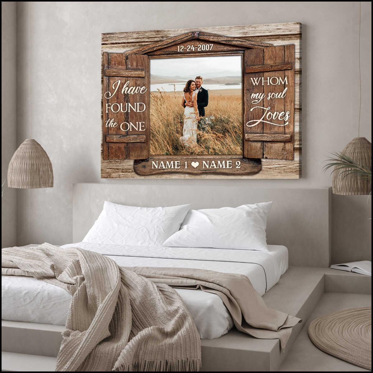 Custom Canvas Prints Personalized Gifts Wedding Anniversary Gifts Photo Gifts Window I Have Found The One Wall Art Decor Ohcanvas
